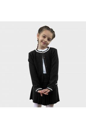 Детская кофта Герда Черная с белой полоской