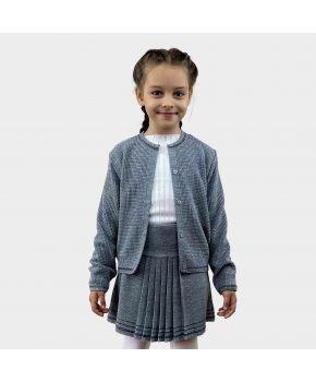 Детская кофта Герда Серый меланж с люрексом