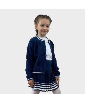 Детская кофта Герда Синяя с белым