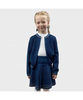 Детская кофта Герда Синяя с люрексом