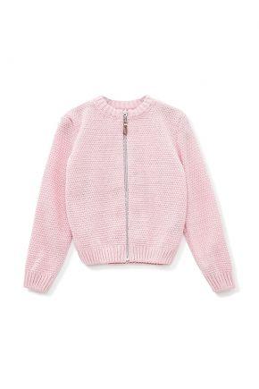 Детская кофта на молнии Блеск розовая с люрексом