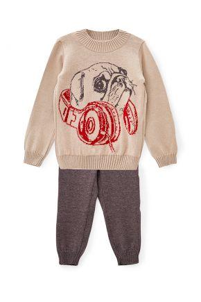 Детский костюм Мопс бежевый