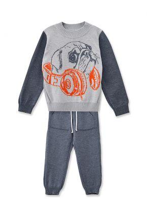 Детский костюм Мопс серый