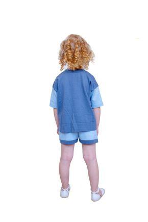 Детский костюм Color Block серый