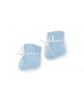 Вязаные пинетки для младенцев Голубые