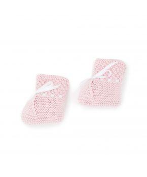 Вязаные пинетки для младенцев Розовые