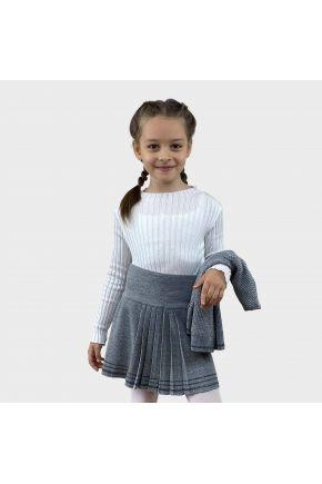 Юбка детская Герда Серый меланж с люрексом