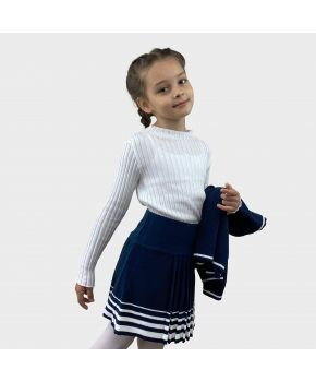 Юбка детская Герда Синяя с белым