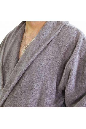 Халат махровый мужской серый