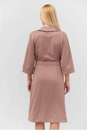 Халат трикотажный с рукавом Прованс by Vona бледно-розовый