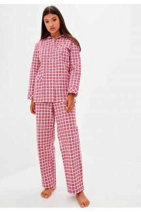 Пижама женская фланелевая Красная клеточка
