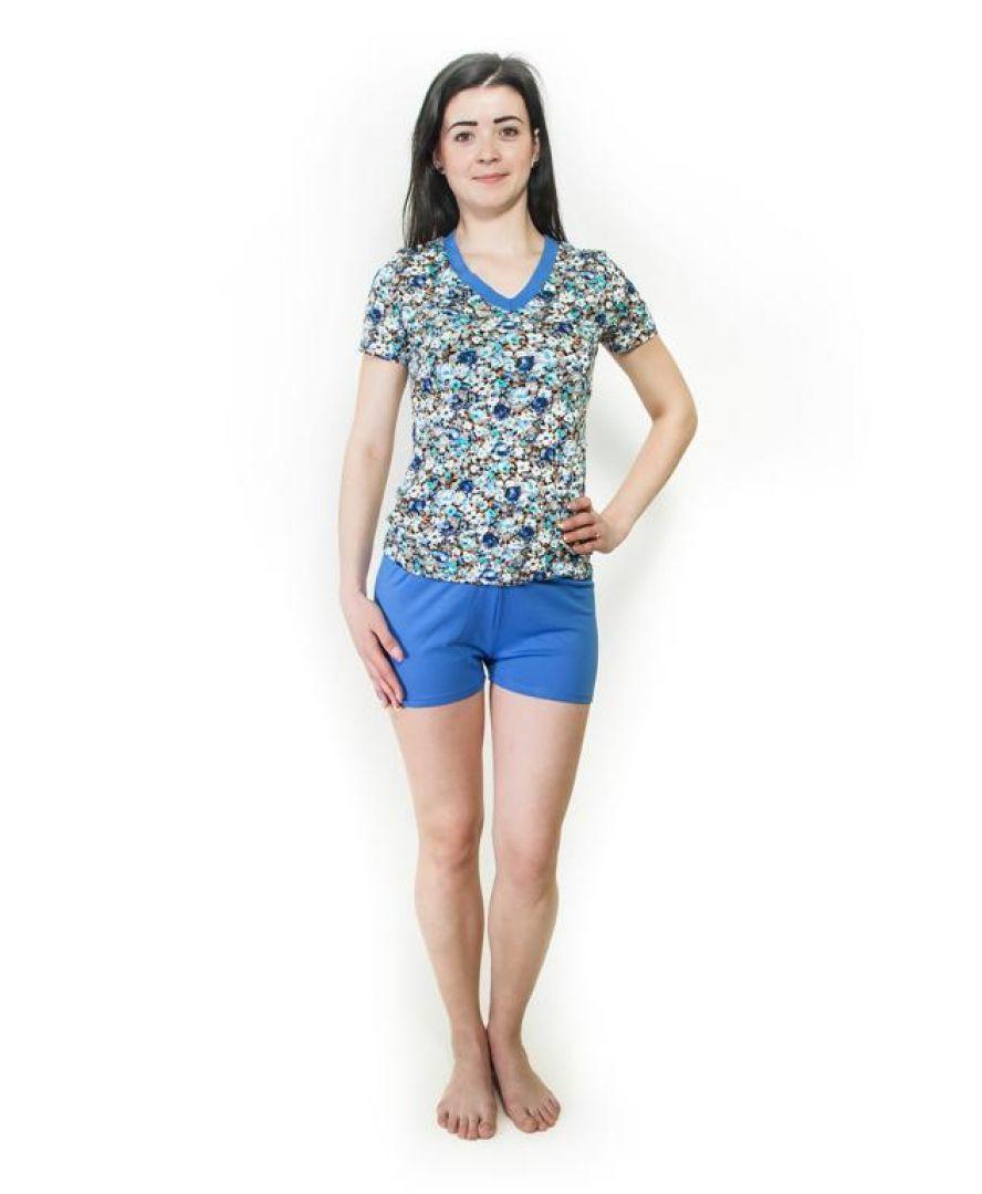 Пижама Santa Mira голубые цветы