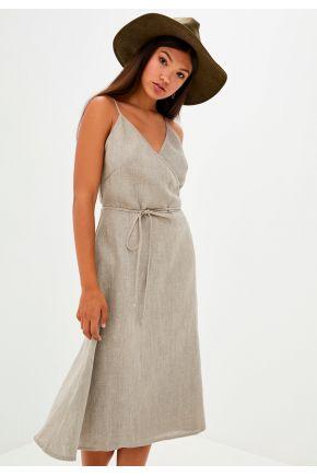 Платье льняное на запах CORDA