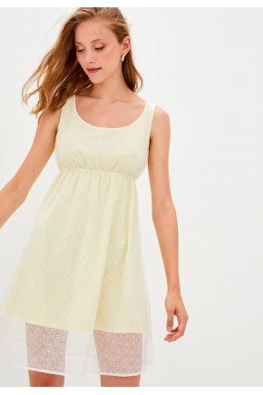 Платье летнее женское короткое Солнечное кружево