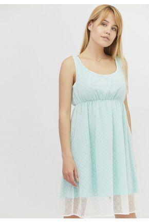 Платье летнее женское короткое Бирюзовое кружево