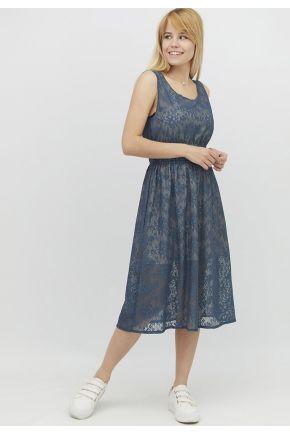 Женское летнее платье Синий шарм