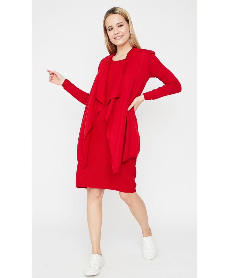 Сарафан Aimec красный и кардиган Light-Style