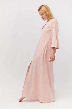 Пляжная туника длинная Розовая