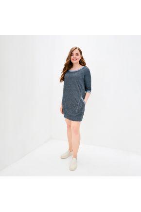 Платье с рукавом Индиго