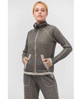 Костюм для спорта (кофта с длинным рукавом и брюки узкие) графит Vona ТМ Прованс