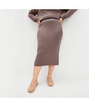 Вязаная юбка Katrin Шоколад