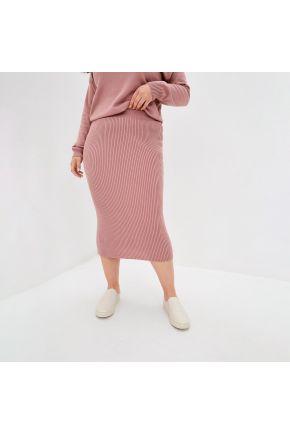 Вязаная юбка Katrin Темно-розовая