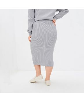 Вязаная юбка Katrin Серая