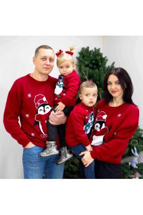 Набор джемперов для всей семьи Family look Пингвин