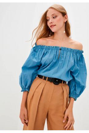 Блуза женская синяя