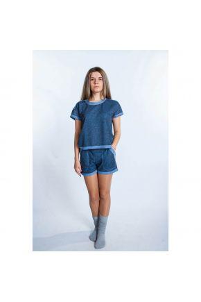 Костюм для спорта (футболка и шорты) индиго Vona ТМ Прованс