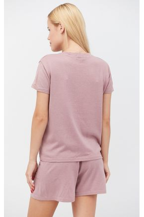 Костюм футболка и шорты Set-breeze какао