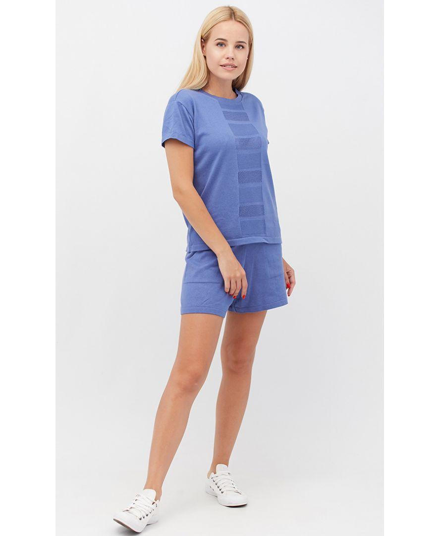 Костюм футболка и шорты Set-breeze лавандовый