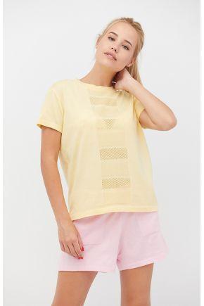 Костюм Set-breeze футболка желтая и шорты нежно-розовые