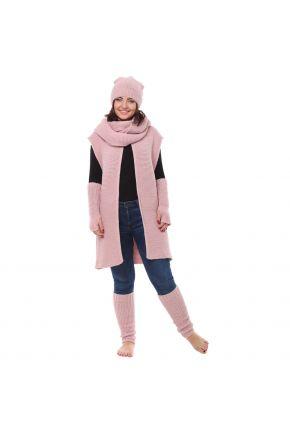 Гетры вязаные розовая пудра
