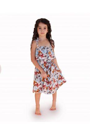 Платье детское бабочки голубое Vona ТМ Прованс