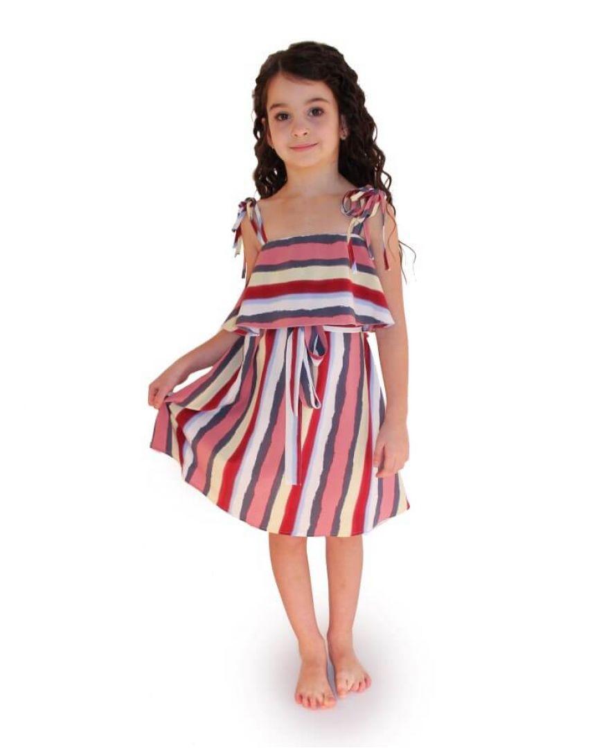 Платье детское полоски цветные Vona ТМ Прованс
