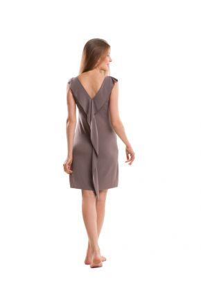 Платье трикотажное серое