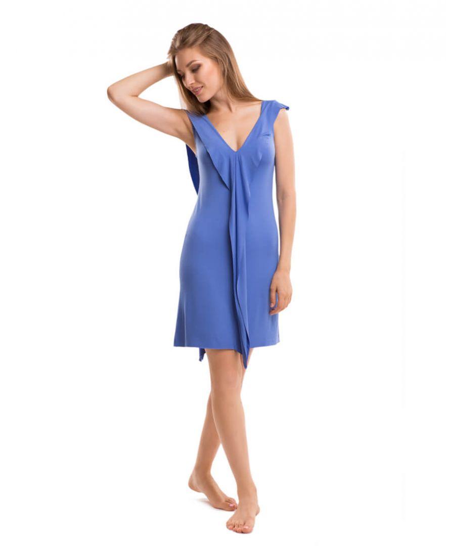 Платье трикотажное синее