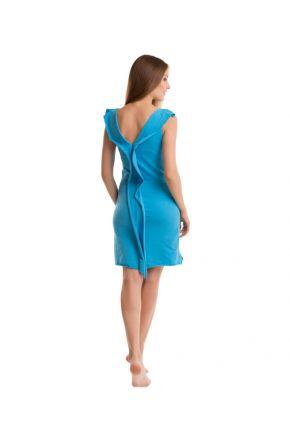 Женское трикотажное платье бирюзовое