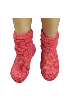 Вязаные носки коралл