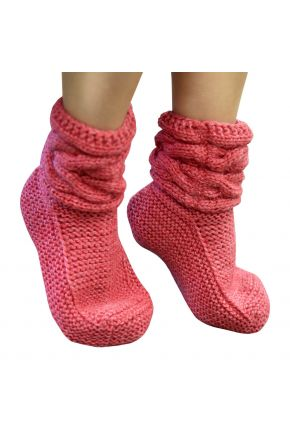 Вязаные носки розовые