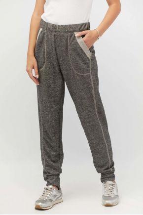 Женские брюки узкие на манжете графит