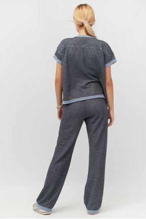 Спортивный костюм (футболка и брюки) широкие индиго Vona ТМ Прованс