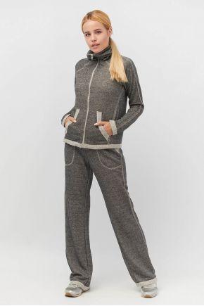 Спортивный костюм (кофта и брюки широкие) графит Vona ТМ Прованс