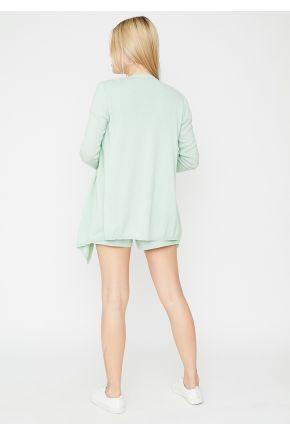 Костюм футболка, шорты Set-breeze и кардиган Light-Style мятный