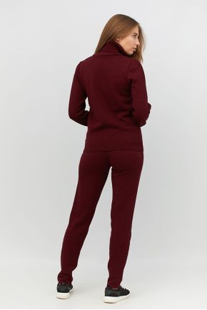 Спортивный костюм вязаный Sport бордо