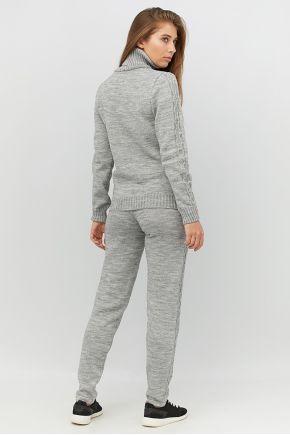 Спортивный костюм вязаный Sport серый меланж