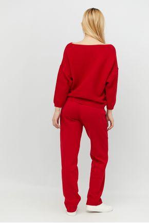 Вязаный костюм Soft-Look красный