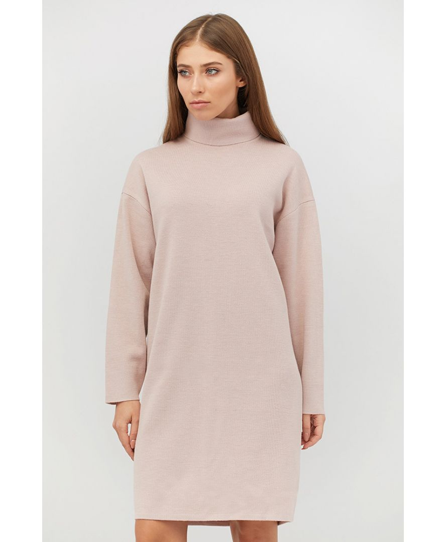 Платье вязаное DREAM пудра