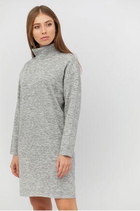 Платье вязаное DREAM серый меланж